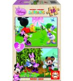 PUZZLE EN BOIS DISNEY MINNIE 2 X 16 PIECES - EDUCA - 15278