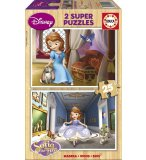 PUZZLE EN BOIS DISNEY PRINCESSE SOFIA 2 X 25 PIECES - EDUCA - 15914