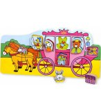 PUZZLE EN BOIS ENFANT A ENCASTRER CARROSSE 7 PIECES - VILAC - 2487