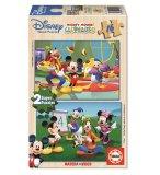 PUZZLE EN BOIS LA MAISON DE MICKEY 2 X 16 PIECES - EDUCA - 14181