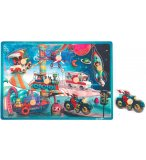 PUZZLE EN BOIS MUSICAL SPACE MOTION 7 PIECES - JANOD - PUZZLE A ENCASTRER AVEC BOUTONS - J07073