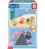 PUZZLE EN BOIS PEPPA LE COCHON / PIG 2 X 25 PIECES - EDUCA - 17158