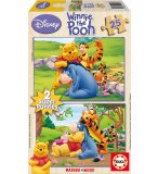 PUZZLE EN BOIS WINNIE L'OURSON 2 X 25 PIECES - EDUCA - 14503