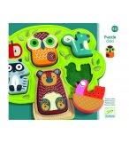 PUZZLE EN FEUTRINE ET BOIS OSKI - 5 PIECES - DJECO - DJ01039