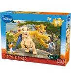 PUZZLE ENFANT ROI LION : SIMBA NALA AVEC ZAZU ET RAFIKI 50 PIECES - DISNEY - KING - 05269B