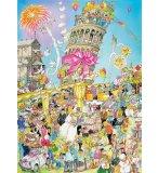 PUZZLE ITALIE : TOUR DE PISE 1000 PIECES - COLLECTION COMIC - KING - 05187