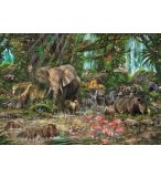 PUZZLE JUNGLE AFRICAINE 2000 PIECES - COLLECTION ANIMAUX SAUVAGES - EDUCA - 16013