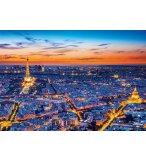 PUZZLE LA TOUR EIFFEL AU COUCHE DU SOLEIL 1500 PIECES - COLLECTION PARIS - CLEMENTONI - 31815