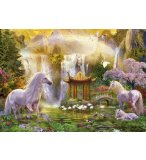 PUZZLE LA VALLEE DES LICORNES 500 PIECES - EDUCA COLLECTION ANIMAUX - 16270