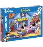 PUZZLE LE GARAGE DE MICKEY - 104 PIECES - PUZZLE SUPER COLOR DISNEY - CLEMENTONI - 27633