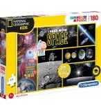 PUZZLE LES PLANETES ET L'ESPACE - 180 PIECES - COLLECTION NATIONAL GEOGRAPHIC - CLEMENTONI - 29206