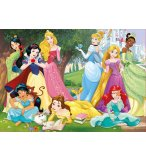 PUZZLE LES PRINCESSES DANS LE PARC DU CHATEAU FEERIQUE 500 PIECES - COLLECTION DISNEY - EDUCA - 17723