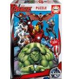 PUZZLE MARVEL AVENGERS HULK - IRON MAN - CAPTAIN AMERICA THOR 200 PIECES - COLLECTION SUPER HEROS - EDUCA - 15933