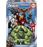 PUZZLE MARVEL AVENGERS  SUPER HEROS 200 PIECES - EDUCA - 15933