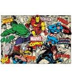 PUZZLE MARVEL COMICS : HULK IRON MAN THOR BLACK WIDOW  1000 PIECES - COLLECTION SUPER HEROES - EDUCA 18498