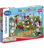 PUZZLE MICKEY ET SES AMIS DANS LE JARDIN  - 104 PIECES - PUZZLE SUPER COLOR DISNEY - CLEMENTONI - 27287