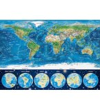PUZZLE NEON LA CARTE DU MONDE 1000 PIECES - COLLECTION FLUORESCENT - EDUCA - 16760