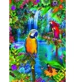 PUZZLE PERROQUET : PARADIS TROPICAL 500 PIECES - COLLECTION ANIMAUX - EDUCA - 15512