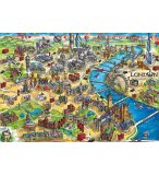 PUZZLE PLAN DE LONDRES 500 PIECES - COLLECTION MONUMENTS ANGLETERRE - EDUCA - 18451
