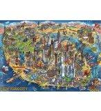 PUZZLE PLAN DE NEW-YORK 500 PIECES - COLLECTION MONUMENTS DES ETATS-UNIS - EDUCA - 18453