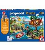 PUZZLE PLAYMOBIL CABANE DANS LES ARBRES 150 PIECES + 1 PERSONNAGE PLAYMOBIL - SCHMIDT - 56164