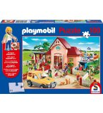 PUZZLE PLAYMOBIL CHEZ LE VETERINAIRE 100 PIECES - SCHMIDT - 56091