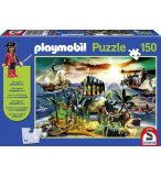 PUZZLE PLAYMOBIL L'ILE DES PIRATES AVEC LE PIRATE 150 PIECES - SCHMIDT - 56020