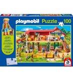PUZZLE PLAYMOBIL LA FERME 100 PIECES + 1 PERSONNAGE PLAYMOBIL - SCHMIDT - 56163
