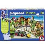 PUZZLE PLAYMOBIL LA FERME 60 PIECES + UN PERSONNAGE - SCHMIDT - 56040