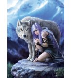 PUZZLE PROTECTOR 1000 PIECES - ANNE STOKES - COLLECTION LOUP - CLEMENTONI - 39465