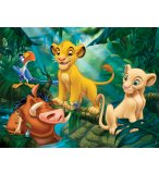 PUZZLE ROI LION : SIMBA NALA TIMON ET PUMBA DANS LA JUNGLE 30 PIECES - NATHAN - 863136