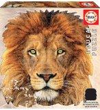 PUZZLE SILHOUETTE TETE DE LION 367 PIECES - COLECTION ANIMAUX SAUVAGES : EDUCA - 18653