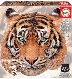 PUZZLE SILHOUETTE TETE DU TIGRE 375 PIECES - COLECTION ANIMAUX SAUVAGES : EDUCA - 18475