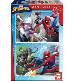 PUZZLE SPIDER-MAN ET LE BOUFFON VERT - 2 X 48 PIECES - COLLECTION SUPER HEROS SPIDERMAN - EDUCA - 18099