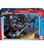 PUZZLE SPIDERMAN ATTAQUE SON ENNEMI VENOM 200 PIECES - COLLECTION SUPER HEROS - EDUCA - 18100