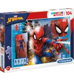 PUZZLE SPIDERMAN DANS LA VILLE - 104 PIECES - COLLECTION SPIDER-MAN MARVEL - CLEMENTONI - 27118