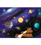 PUZZLE STAR LINE : LE SYSTEME SOLAIRE 500 PIECES - COLLECTION NEON - RAVENSBURGER - 14926