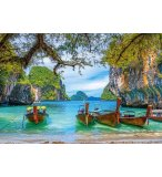 PUZZLE THAILANDE COIN PARADISIAQUE DE PHUKET - 1500 PIECES COLLECTION PLAGE ET BATEAU - CASTORLAND - 151936