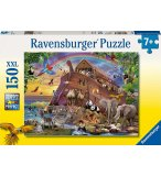PUZZLE XXL VOYAGE A  BORD DE  L'ARCHE DE NOE 150 PIECES - COLLECTION ANIMAUX - RAVENSBURGER - 100385