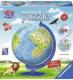 PUZZLEBALL 3D GLOBE TERRESTRE 180 PIECES - MAPPEMONDE - PUZZLE RAVENSBURGER - 12339