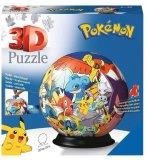 PUZZLEBALL POKEMON : PIKACHU ET DRACAUFEU 72 PIECES - 3D- PUZZLE RAVENSBURGER - 117857