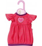 ROBE A RAYURES ROSE ET ROUGE DOLLY MOSA - HABIT POUPEE 38-46 CM - ZAPF CREATION - ZA10