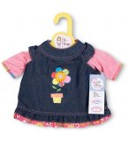 ROBE JEANS AVEC FLEUR DOLLY MOSA - HABIT POUPEE 38-46 CM - ZAPF CREATION (12)