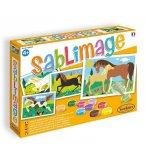 SABLIMAGE CHEVAUX - SABLE COLORE - SENTOSPHERE - 887 - LOISIR CREATIF