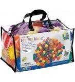 SAC DE 100 BALLES MULTICOLORES EN PLASTIQUE - INTEX - TENTE ET PISCINE A BALLES