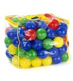 SAC DE 100 BALLES MULTICOLORES EN PLASTIQUE - PISCINE A BOULES