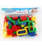 SACHET 44 BLOCKS DE CONSTRUCTION AVEC PICOTS CLIPS - JEU CONSTRUCTION