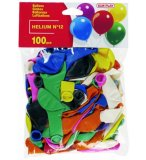 SACHET DE 100 BALLONS COULEURS ASSORTIS - DECORATION DE FETE - KIM'PLAY - 1219