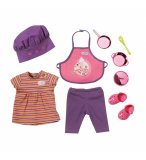 SET CUISINIER BABY BORN : TABLIER ET TOC - HABIT POUPEE 43 CM - ZAPF CREATION