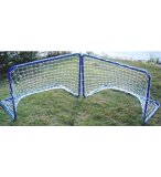 SET DE 2 BUTS DE FOOTBALL METAL 78 x 45 x 56 CM - CAGE DE FOOT JUNIOR
